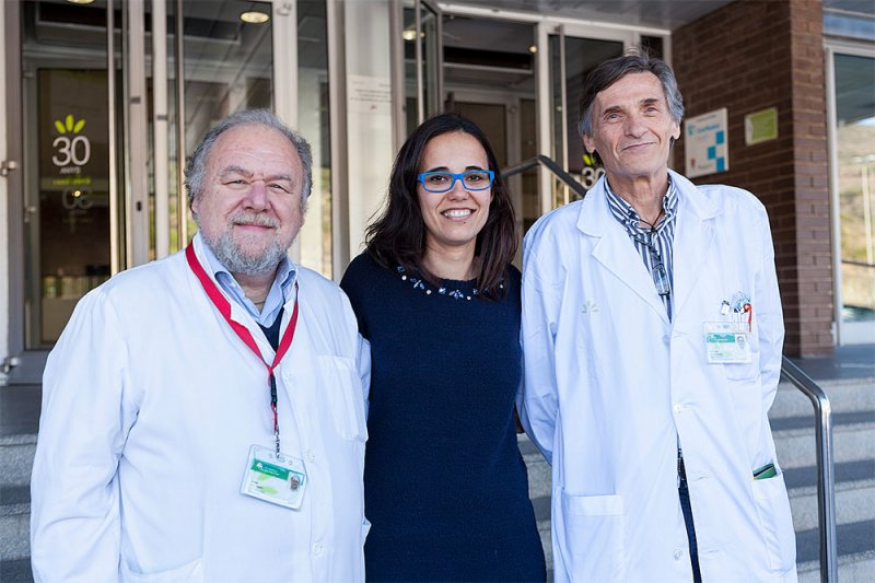 Dr. Gisela Nogales with Drs. Jaume Coll and Guillem PintosDr. Gisela Nogales with Drs. Jaume Coll and Guillem Pintos